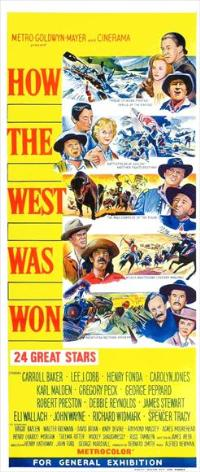 How the West Was Won - 13 x 30 Movie Poster - Australian Style B
