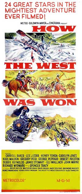 How the West Was Won - 14 x 36 Movie Poster - Insert Style C