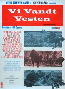 How the West Was Won - 11 x 17 Movie Poster - Danish Style A