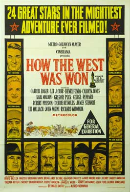 How the West Was Won - 11 x 17 Movie Poster - Australian Style A