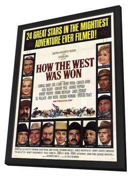 How the West Was Won - 11 x 17 Movie Poster - Style A - in Deluxe Wood Frame