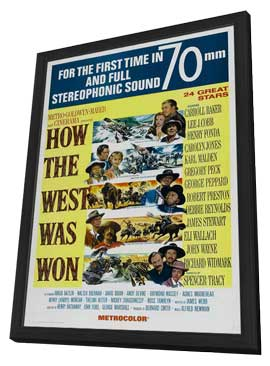 How the West Was Won - 27 x 40 Movie Poster - Style C - in Deluxe Wood Frame