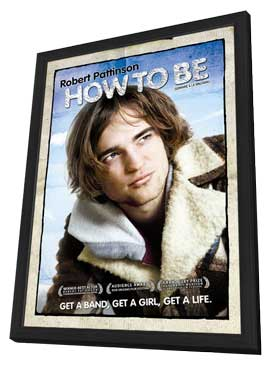 How to Be - 11 x 17 Movie Poster - Canadian Style B - in Deluxe Wood Frame