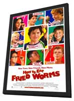 How to Eat Fried Worms - 11 x 17 Movie Poster - Style A - in Deluxe Wood Frame