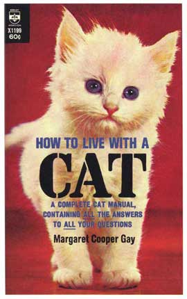 How to Live With a Cat - 11 x 17 Retro Book Cover Poster