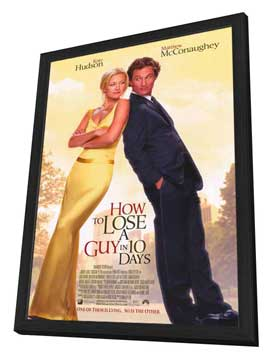 How to Lose a Guy in 10 Days - 27 x 40 Movie Poster - Style A - in Deluxe Wood Frame