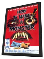 How to Make a Monster - 11 x 17 Movie Poster - Style A - in Deluxe Wood Frame