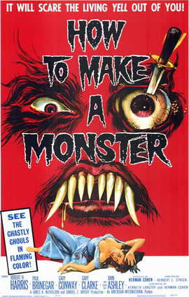 How to Make a Monster - 11 x 17 Movie Poster - Style A
