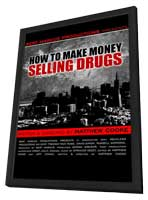 How to Make Money Selling Drugs - 11 x 17 Movie Poster - Style A - in Deluxe Wood Frame