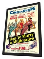 How to Marry a Millionaire - 11 x 17 Movie Poster - Style C - in Deluxe Wood Frame