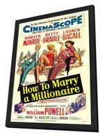 How to Marry a Millionaire - 27 x 40 Movie Poster - Style C - in Deluxe Wood Frame