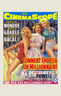 How to Marry a Millionaire - 11 x 17 Poster - Foreign - Style B