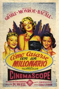 How to Marry a Millionaire - 27 x 40 Movie Poster - Spanish Style A