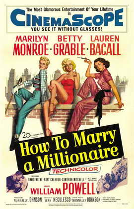 How to Marry a Millionaire - 11 x 17 Movie Poster - Style C