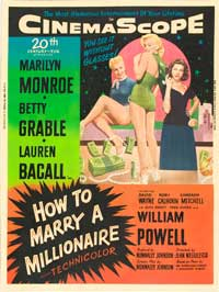 How to Marry a Millionaire - 27 x 40 Movie Poster - Style E