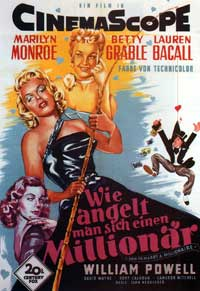 How to Marry a Millionaire - 11 x 17 Movie Poster - German Style A