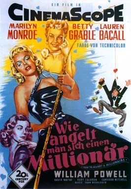How to Marry a Millionaire - 11 x 17 Movie Poster - German Style B