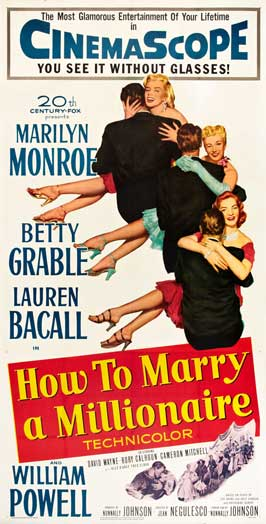 How to Marry a Millionaire - 20 x 40 Movie Poster - Style A