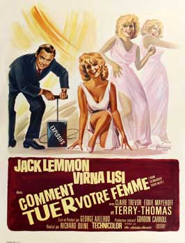 How to Murder Your Wife - 27 x 40 Movie Poster - French Style A