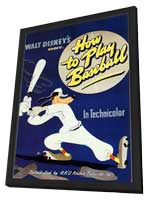 How to Play Baseball - 11 x 17 Movie Poster - Style A - in Deluxe Wood Frame