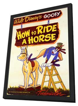 How to Ride a Horse - 11 x 17 Movie Poster - Style A - in Deluxe Wood Frame