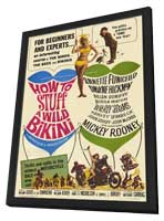 How to Stuff a Wild Bikini - 27 x 40 Movie Poster - Style A - in Deluxe Wood Frame