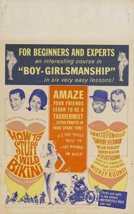 How to Stuff a Wild Bikini - 11 x 17 Movie Poster - Style B