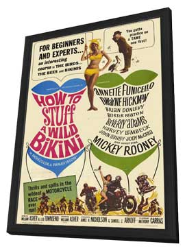 How to Stuff a Wild Bikini - 11 x 17 Movie Poster - Style A - in Deluxe Wood Frame