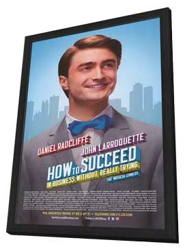How to Succeed In Business Without Really Trying (Broadway) - 14 x 22 Poster - Heavy Stock - in Deluxe Wood Frame