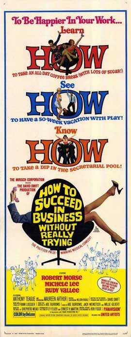 How to Succeed in Business without Really Trying - 14 x 36 Movie Poster - Insert Style A
