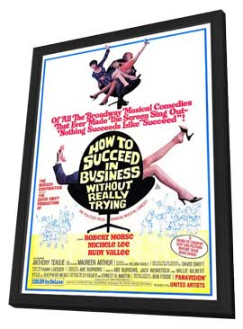 How to Succeed in Business without Really Trying - 11 x 17 Movie Poster - Style A - in Deluxe Wood Frame