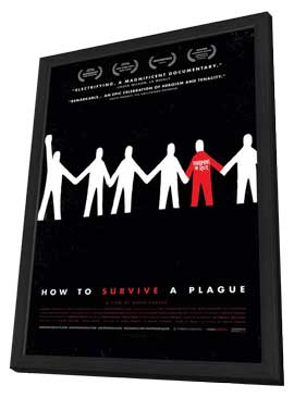 How to Survive a Plague - 11 x 17 Movie Poster - Style A - in Deluxe Wood Frame