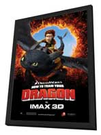 How to Train Your Dragon - 11 x 17 Movie Poster - Style H - in Deluxe Wood Frame