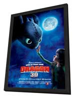 How to Train Your Dragon - 27 x 40 Movie Poster - Style D - in Deluxe Wood Frame