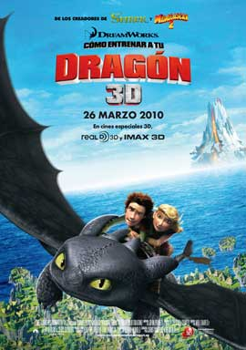 How to Train Your Dragon - 11 x 17 Movie Poster - Spanish Style B