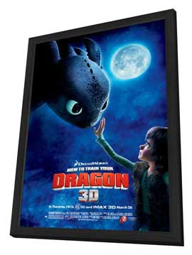 How to Train Your Dragon - 11 x 17 Movie Poster - Style I - in Deluxe Wood Frame