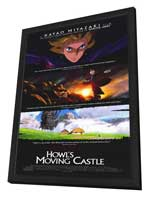 Howl's Moving Castle - 11 x 17 Movie Poster - Style A - in Deluxe Wood Frame