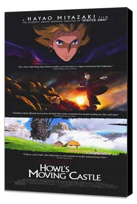 Howl's Moving Castle - 11 x 17 Movie Poster - Style A - Museum Wrapped Canvas