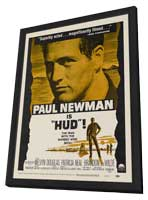 Hud - 11 x 17 Movie Poster - Style D - in Deluxe Wood Frame