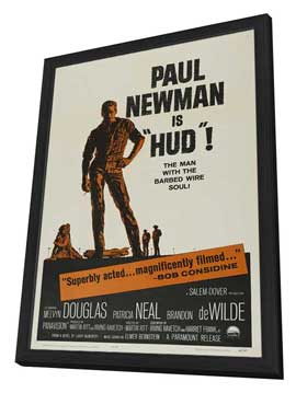 Hud - 27 x 40 Movie Poster - Style C - in Deluxe Wood Frame