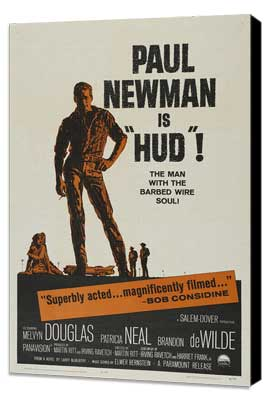 Hud - 27 x 40 Movie Poster - Style C - Museum Wrapped Canvas