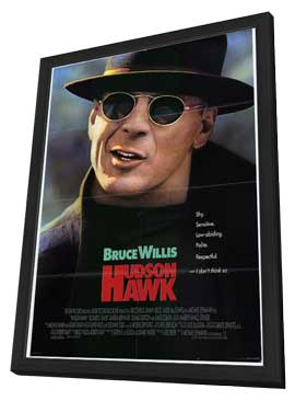 Hudson Hawk - 27 x 40 Movie Poster - Style A - in Deluxe Wood Frame