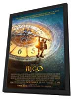 Hugo - 11 x 17 Movie Poster - Style B - in Deluxe Wood Frame