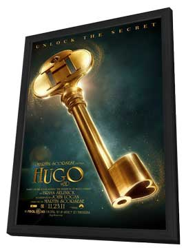 Hugo - 27 x 40 Movie Poster - Style A - in Deluxe Wood Frame
