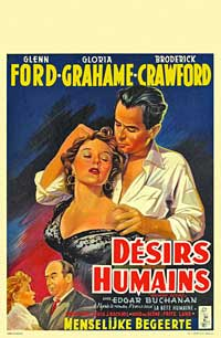 Human Desire - 11 x 17 Movie Poster - Belgian Style A