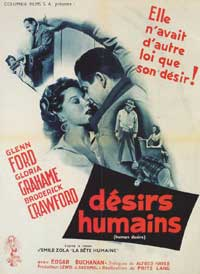 Human Desire - 11 x 17 Movie Poster - French Style A