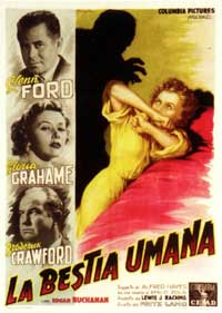 Human Desire - 11 x 17 Movie Poster - Italian Style A