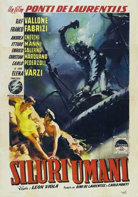 Human Torpedoes - 11 x 17 Movie Poster - Italian Style A