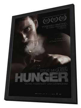 Hunger - 27 x 40 Movie Poster - Style B - in Deluxe Wood Frame
