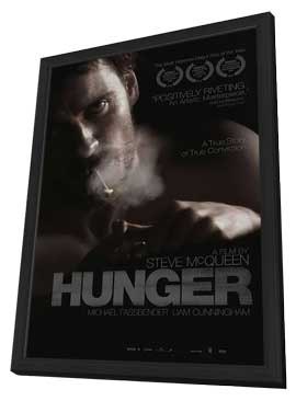 Hunger - 11 x 17 Movie Poster - Style A - in Deluxe Wood Frame